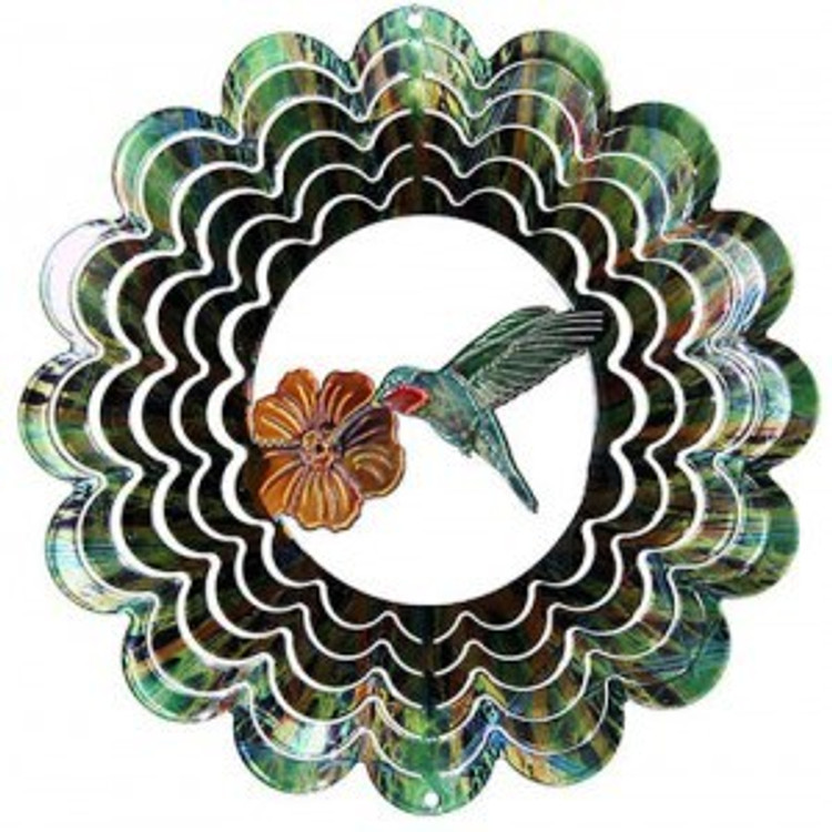 Kaleidoscope Wind Spinner Hummingbird