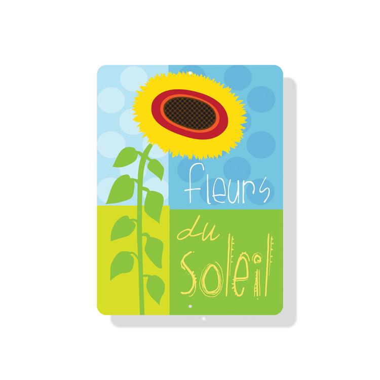 "Fleurs Du Soleil Sign 9"" x 12"" (Lime Green)"