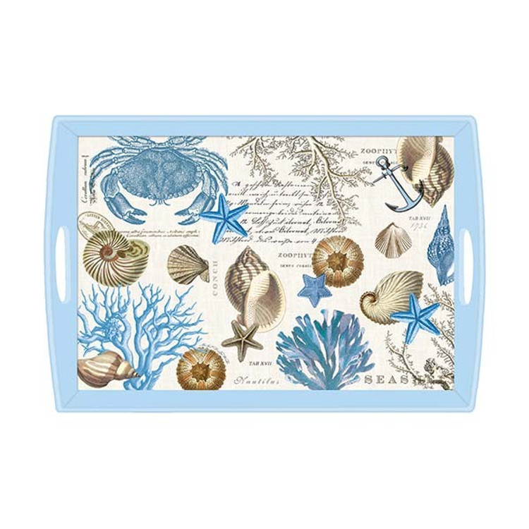 Seashore Decoupage Wooden Tray