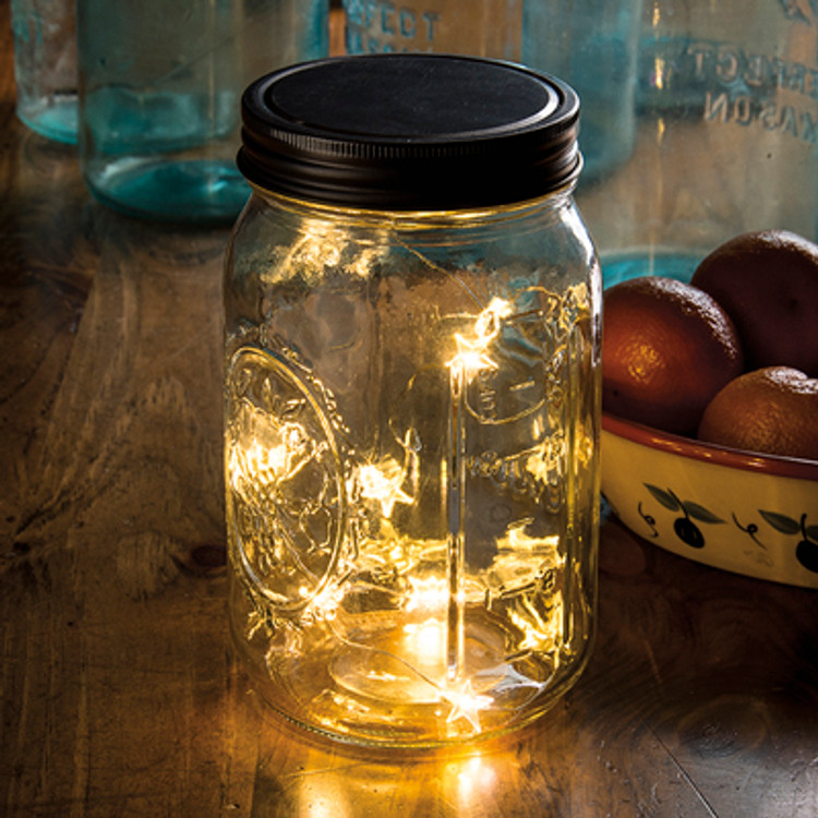 Mason Jar Lid - Star Lights