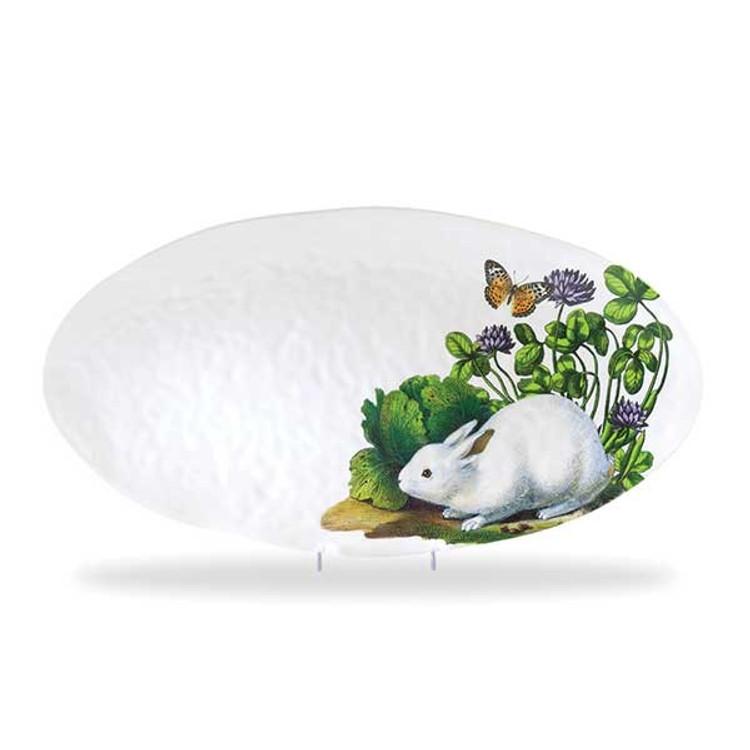Oval Serveware Platter - Garden Bunny