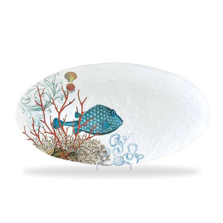 Oval Serveware Platter - Sea Life