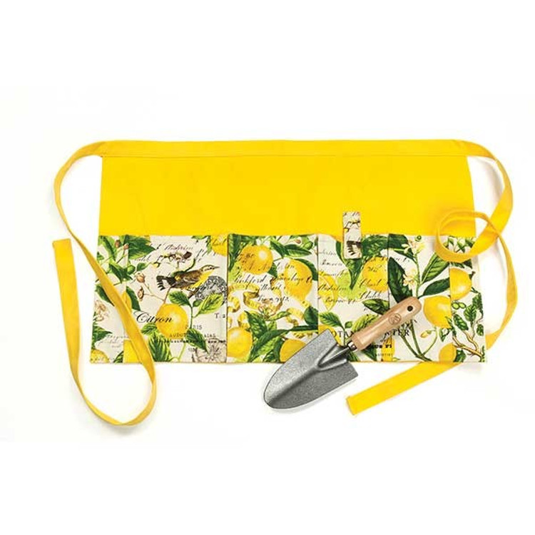 Lemon Basil Garden Apron and Trowel Gift Set