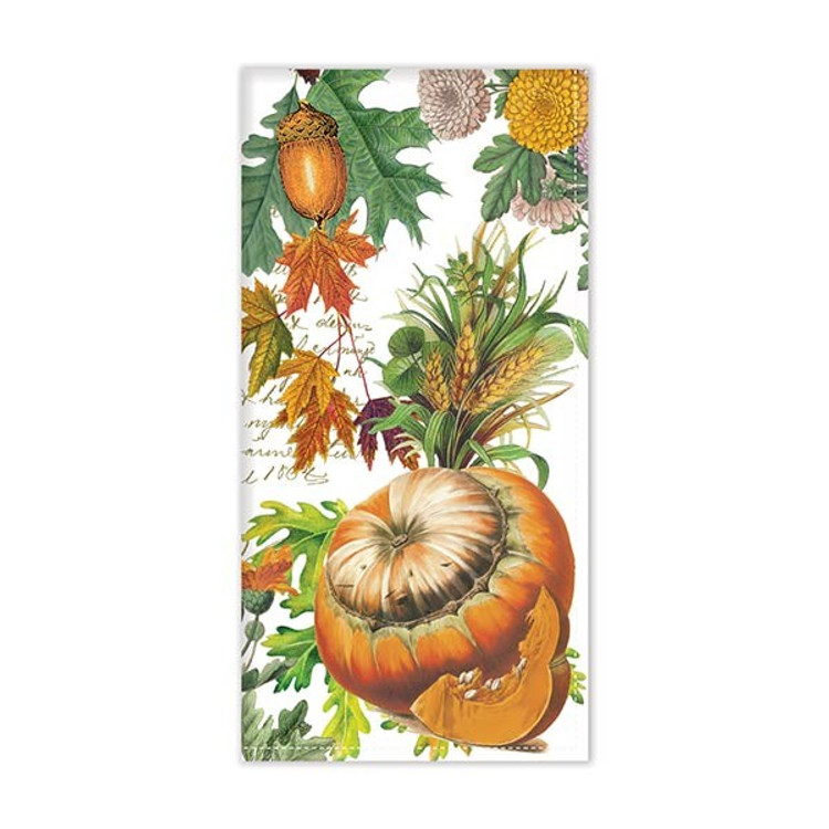Pumpkin Melody Fabric Hostess Napkin - Set of 4