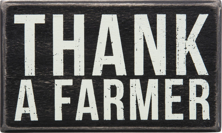 Box Sign - Thank a Farmer