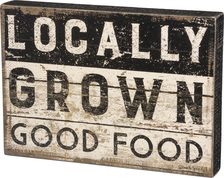 Box Sign - Locally Grown