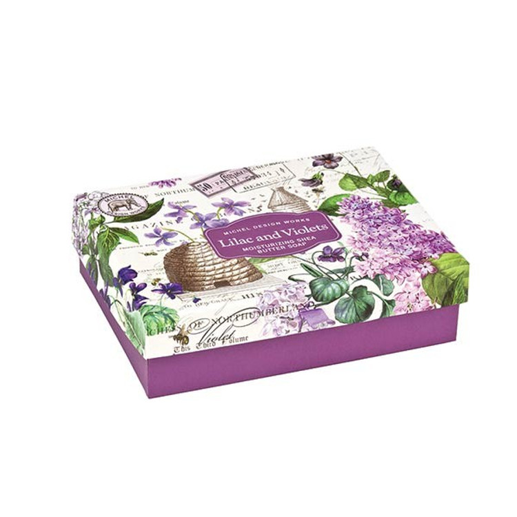Lilac and Violets Double Soap Gift Box