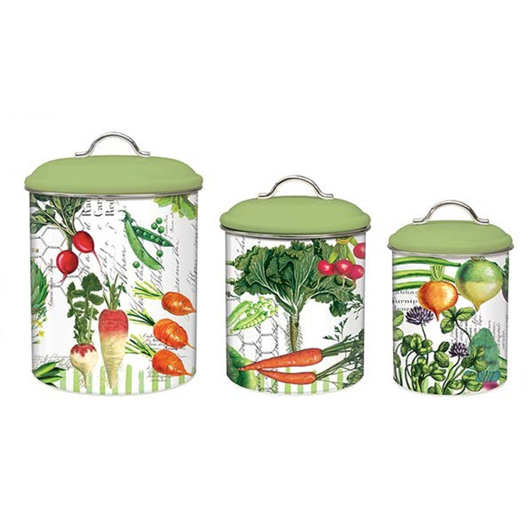 Vegetable Kingdom Metal Canister Set