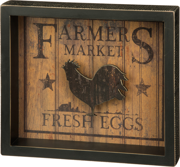 Box Sign - Fresh Eggs