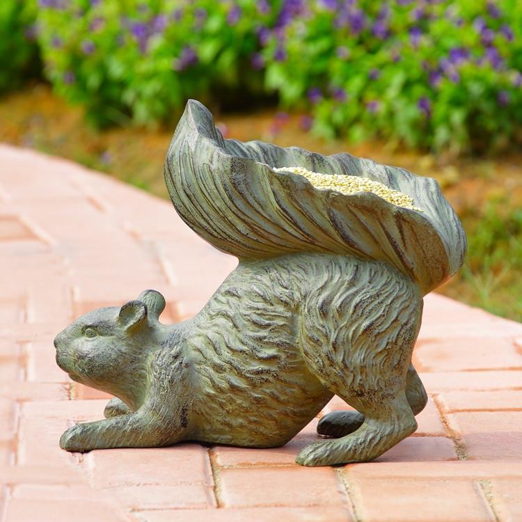 Bushy Tailed Squirrel Birdfeeder