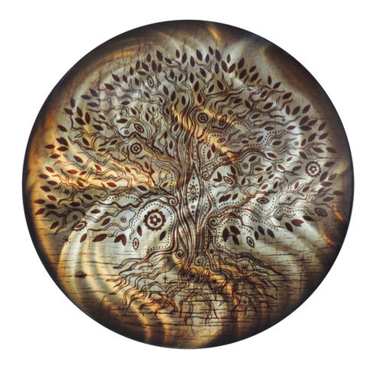 Tree of Life - Light Reflective Wall Art (Amber)