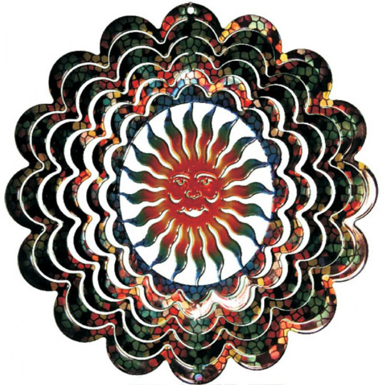 Kaleidoscope Wind Spinner Sun Face