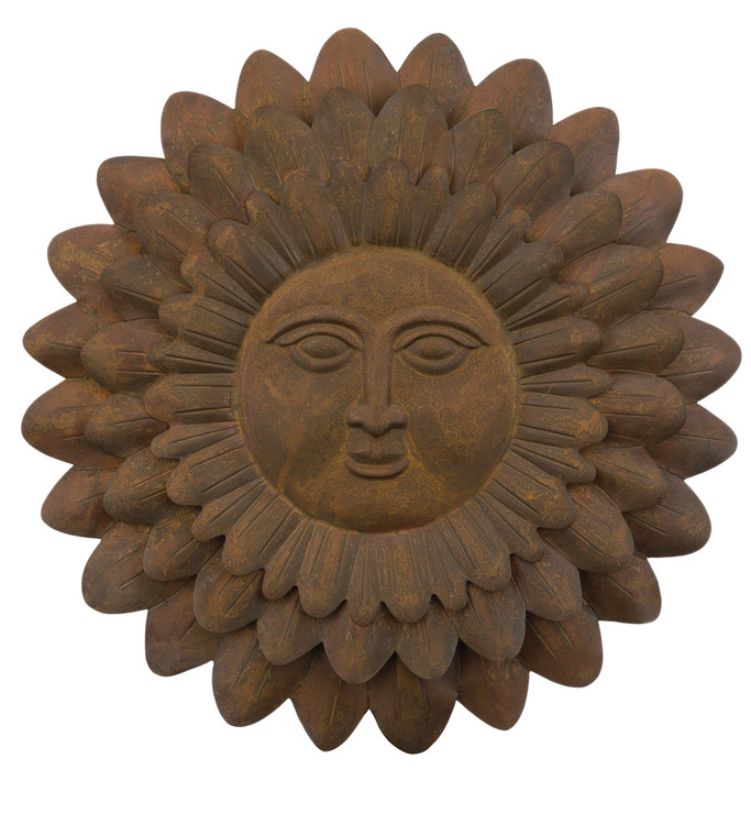 "Sun Face Sunflower 23"" Wall Decor"
