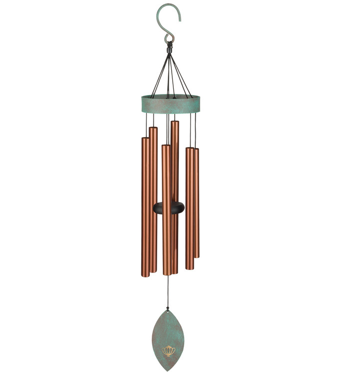 "Patina Breeze Wind Chime 32"" Bronze"