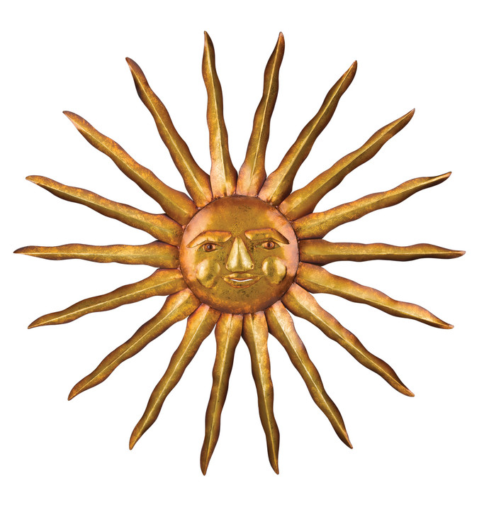 "31"" Golden Sun Wall Decor"