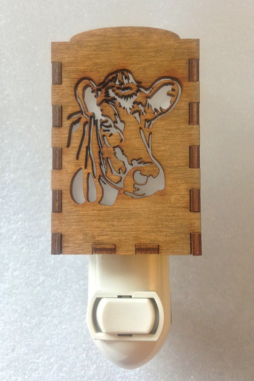 Village Craftsman Wooden Night Lights - Cow