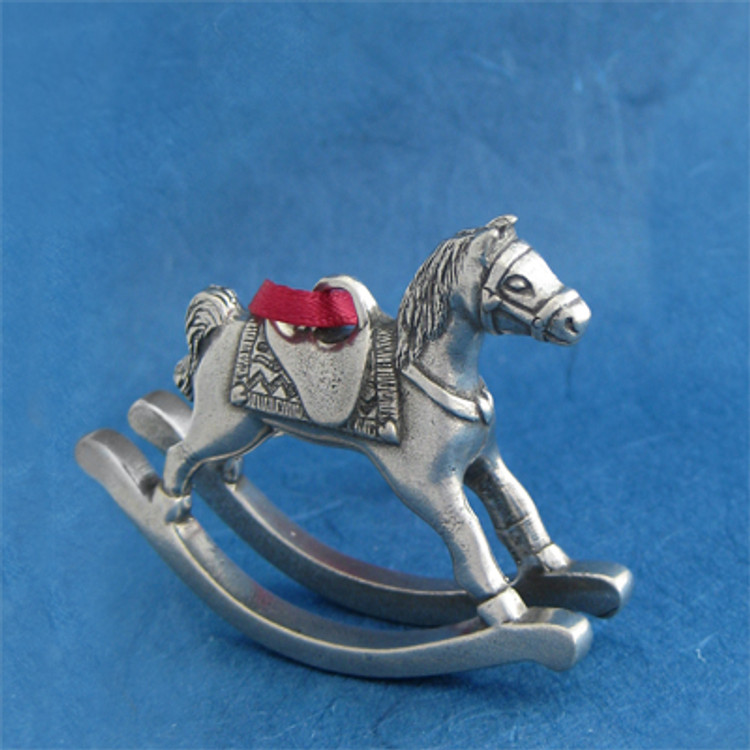 Toy Rocking Horse Annual Pewter Ornament