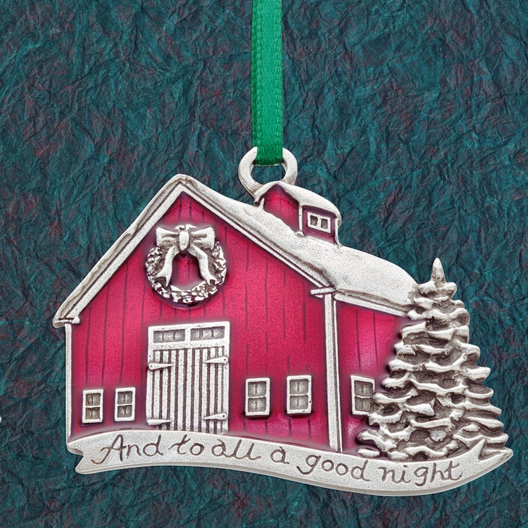 And to All A Good Night Pewter Annual Ornament