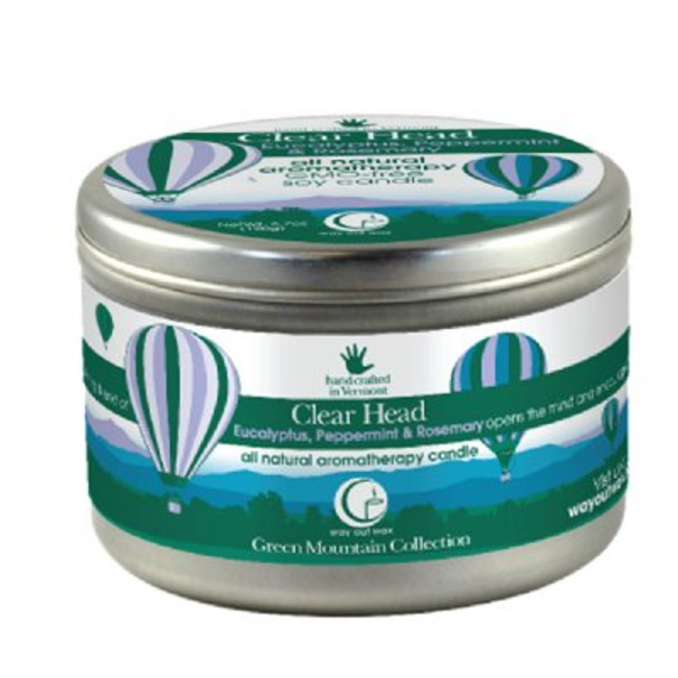 Clear Head Candle Large Tin