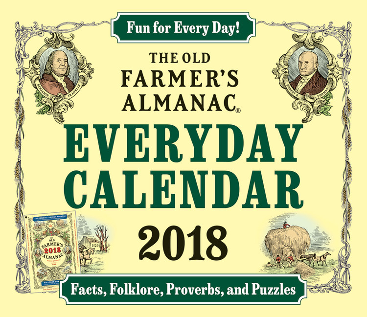 The 2018 Old Farmer's Almanac Everyday Calendar