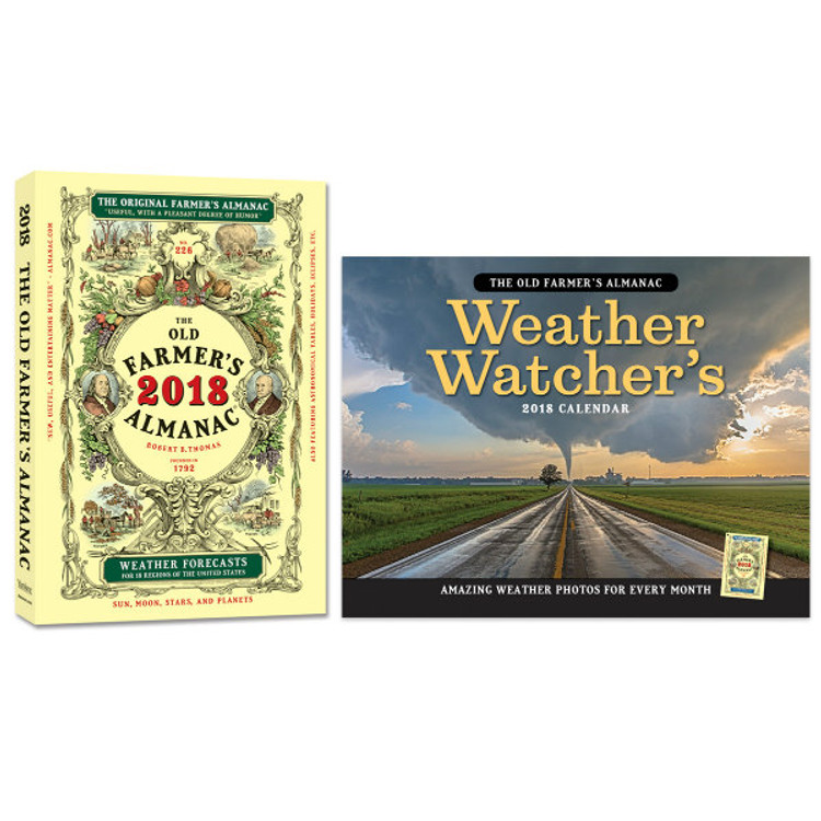Old Farmer's Almanac and an Almanac Weather Calendar