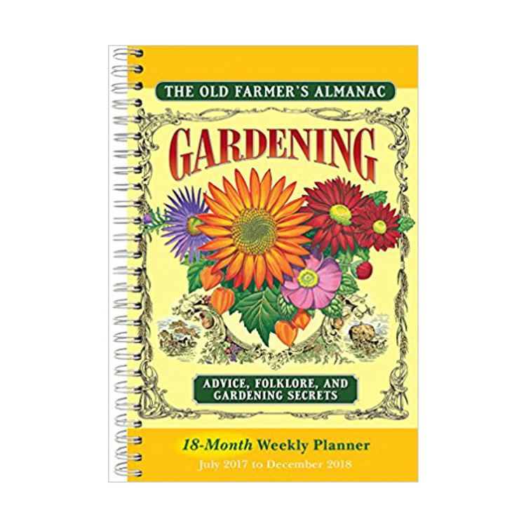 The Old Farmer's Almanac Gardening-Themed 18-Month Weekly Planner