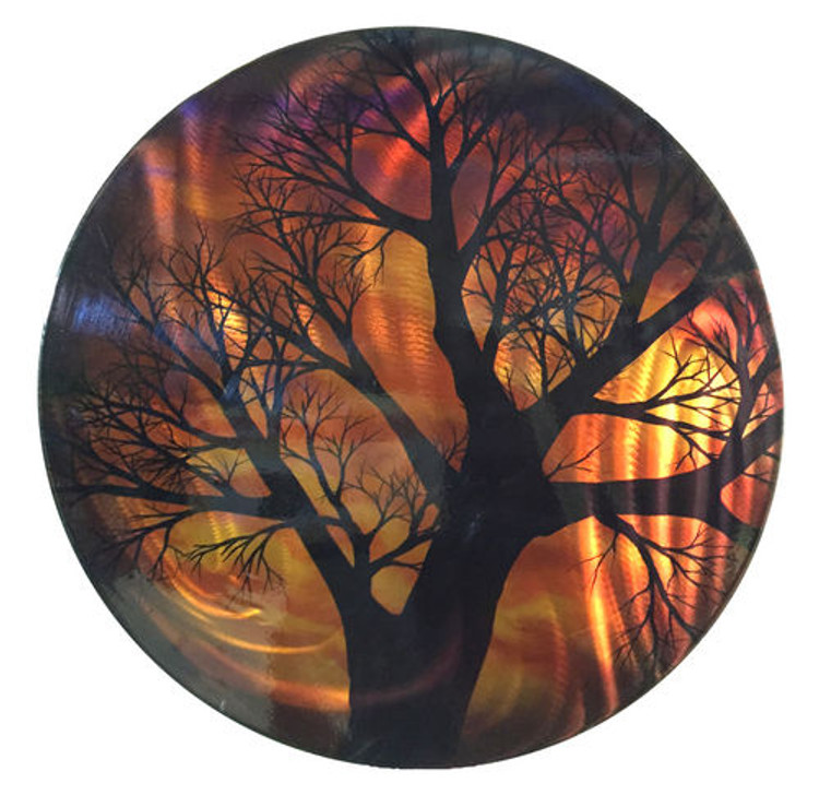 Autumnal Tree - 3D Light Reflective Wall Art
