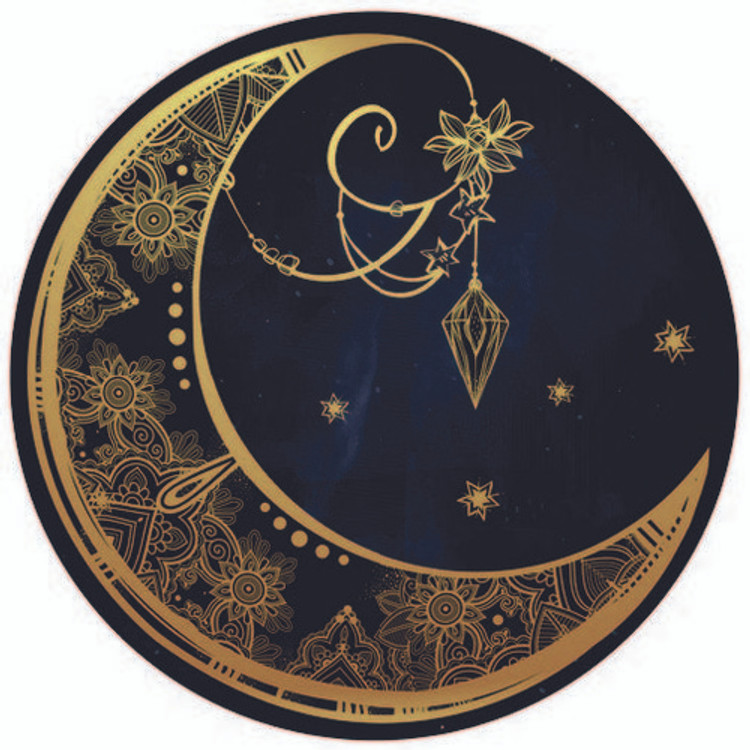 Crescent Moon - 3D Light Reflective Wall Art