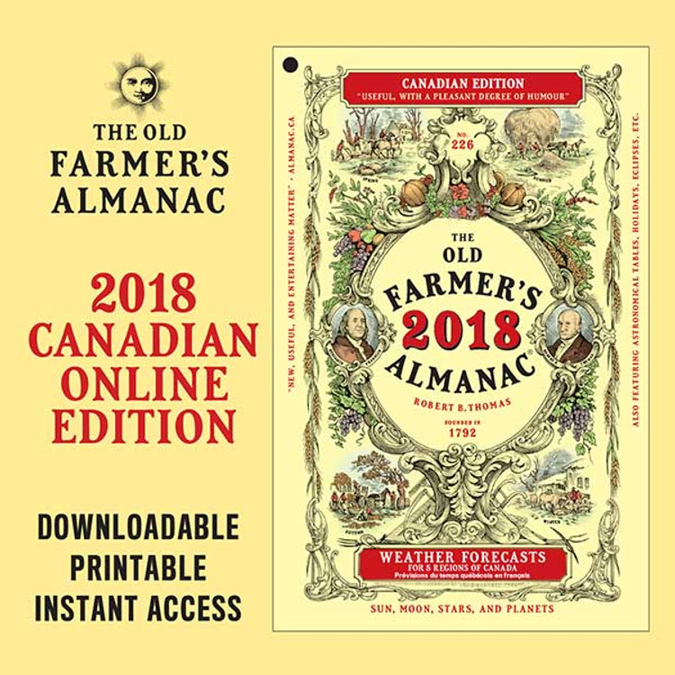 The 2018 Old Farmer's Almanac - Online Canadian Edition
