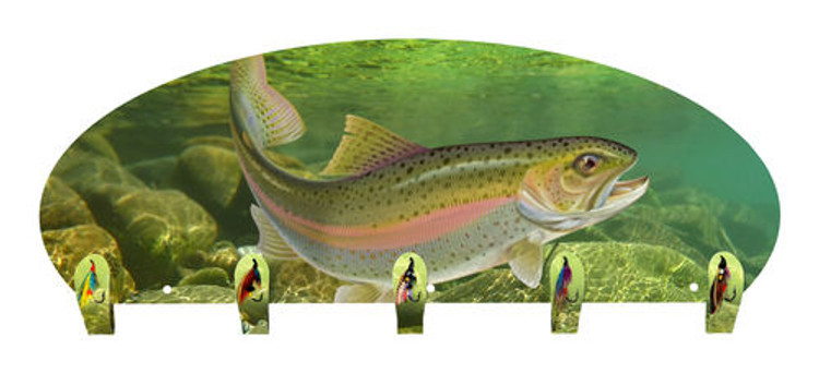 Rainbow Trout Coat Rack