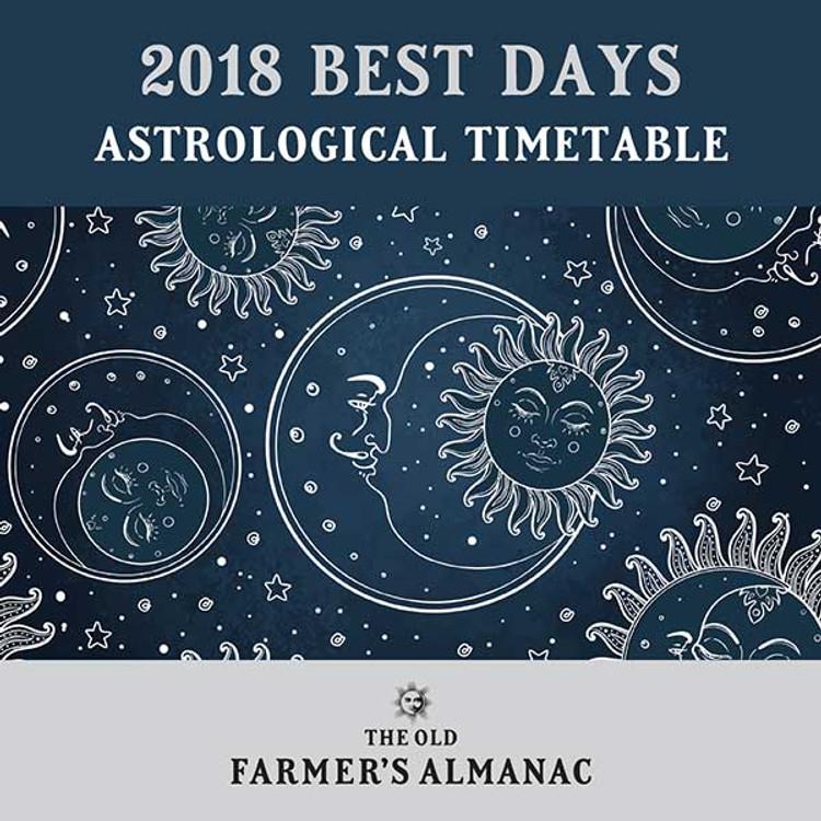 2018 Best Days Astrological Timetable - PDF Download