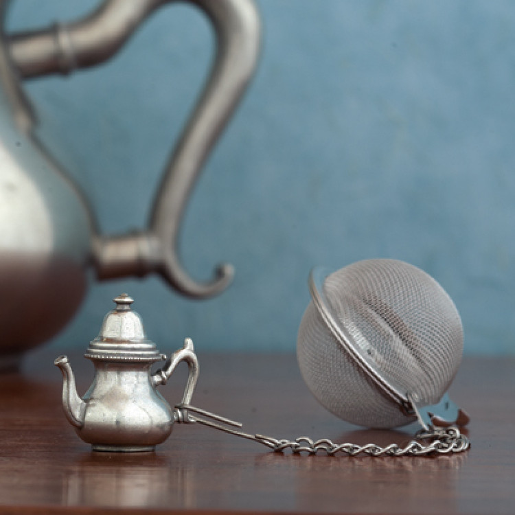 Pewter Teapot Tea Infuser