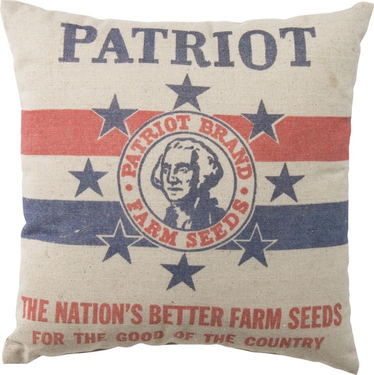 Feed Sack Pillow - Patriot Farm Seeds