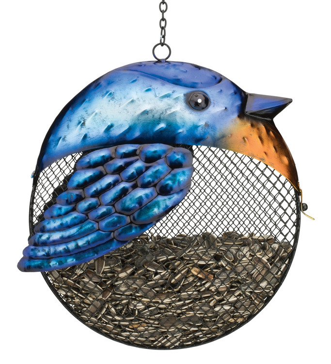 Fat Bird Seed Feeder - Blue Jay