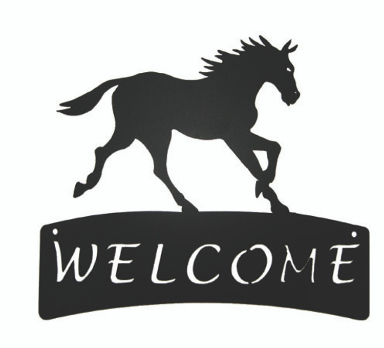 Horse Welcome Plaque