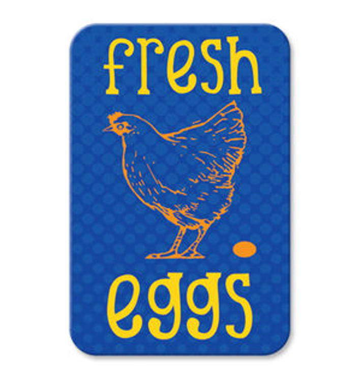 "Fresh Eggs Sign 9"" x 12"" (French Blue)"