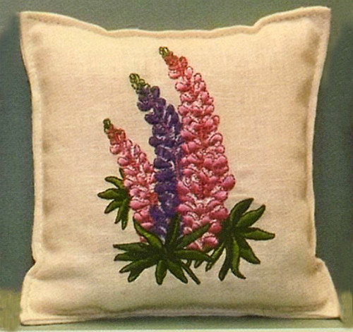 Lupine Embroidered Balsam Filled Pillow The Old Farmer S