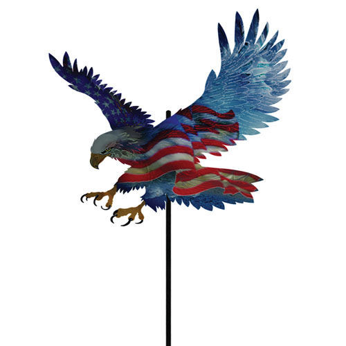Color Infused Metal Garden Stake Screaming Eagle The Old