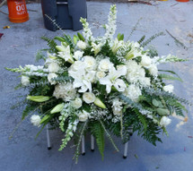 All White Flowers, Lilies, Roses, Snapdragons and Hydrangeas