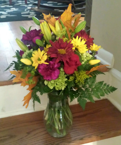 Thankful for Rover Poms, Hydrangeas, Lilies and Roses from The Bloom Closet Florist in Martinez, GA