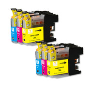 6-Pack COLOR Compatible Ink for Brother LC101 / LC103 XL
