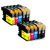 10-Pack Compatible Ink for Brother LC203 XL