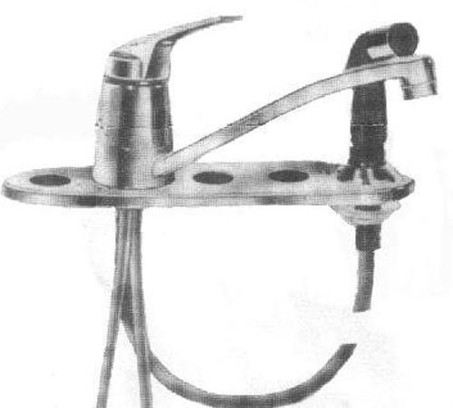 American Standard Fiesta Double Bowl Faucet 4201-0264