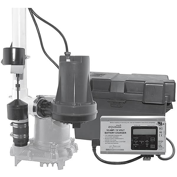 Zoeller 508-0007 - Aquanot Battery Backup Sump Pump System