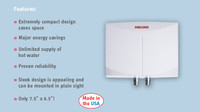Stiebel Eltron Mini 3 120 Volt Tankless Electric Water Heater