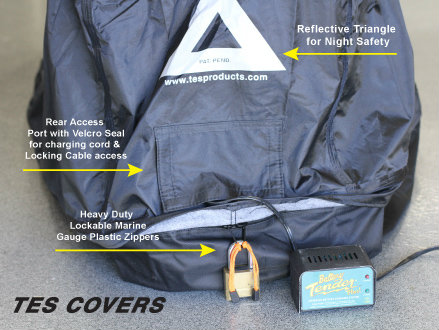 enclosed motorcycle cover