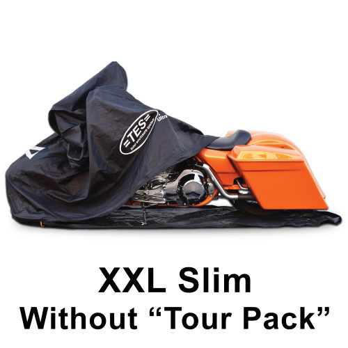 """XXL-Slim for extra large cruisers """"without"""" a center rear tourpack. Fits models like the Harley Davidson Streetglide"""