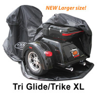 """The new TES Trike XL is made to fit aftermarket conversion trikes that net out to be larger than the """"Harley Davidson TriGlide""""."""