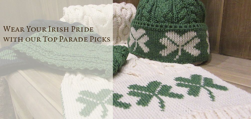 Irish Sweaters & Aran Sweaters for St. Patrick's Day 2016