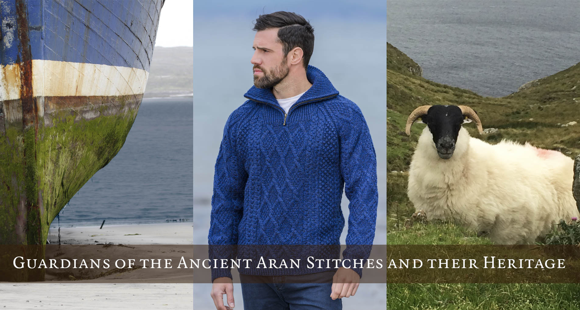 Mens Irish Aran Sweaters & Knitwear